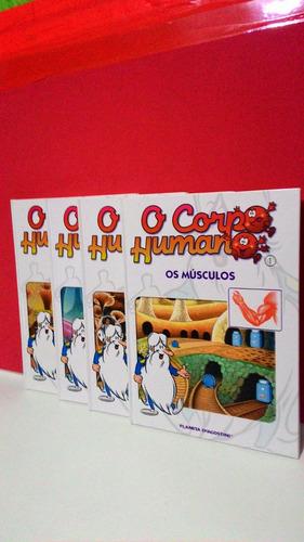 Livro O Corpo Humano Nº 1,2,3,4  Planeta Deagostini Original