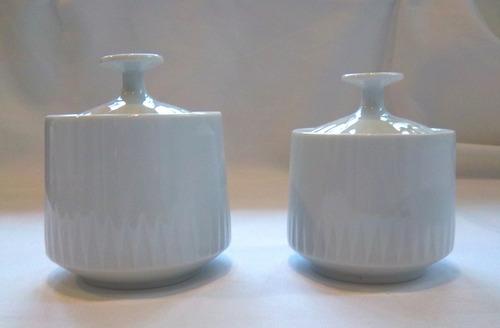 Azucarera Blanca Grande De Porcelana Tsuji Sin Sello