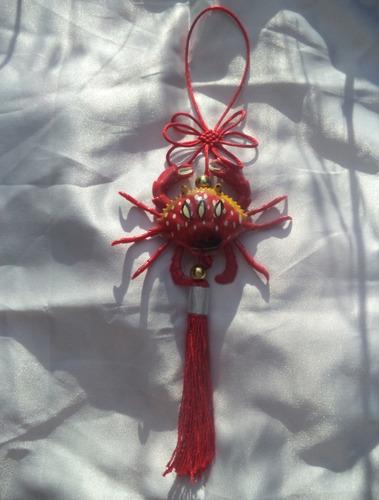 Enfeite Para Espada Katana Chinês Caranguejo Feng Shui