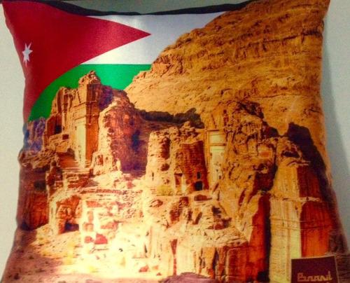 Almofada Cetim - Temática Países - Jordânia Original