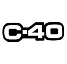 Emblema C-40 Cinza Linha Antiga Chevrolet Original