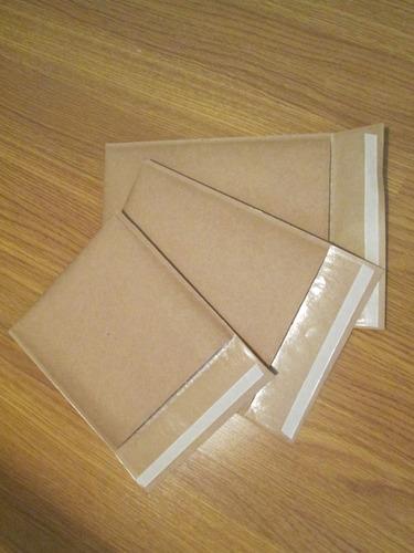 300 Envelopes Com  Bolha  Papel Kraft  13x15 Cm