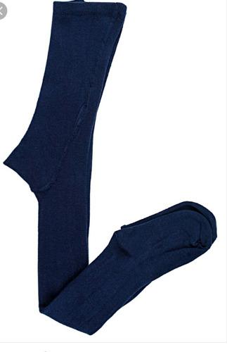 Media Pantalón Colegial Azul Y Blanca En Cachimire