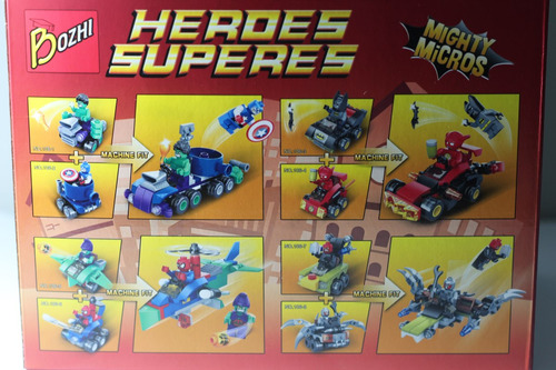 Blocos De Montar - Capitão América E Hulk Mighty Micros Original