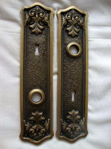 Fechadura Espelho Bronze Antiga Porta Maçaneta