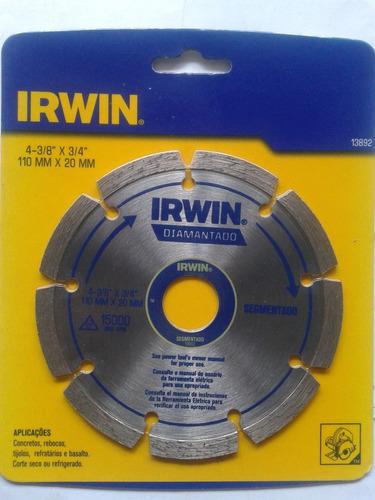 Disco Diamantado E Segmentado Irwin Original