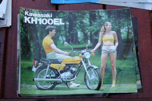 Memorabilia Motociclistica; Folleto De Kawasaki Kc100el