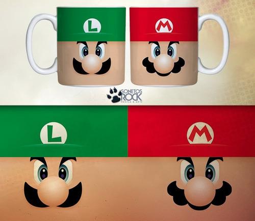 Caneca Sonetos Rock Mario & Luigi Original