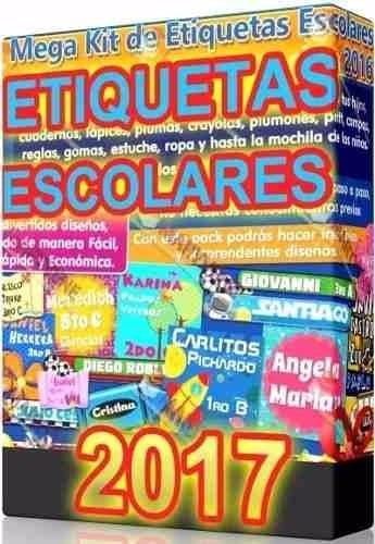 Kit Imprimible Etiquetas Escolares 100% Editables
