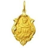 Medalha 1.5cm Santo Frei Galvao Ouro 18k Pingente  Grat Original
