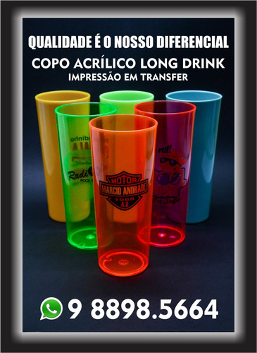 Copos Long Drink Personalizado Laser