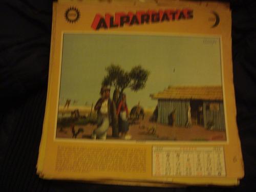 Lamina Original Molina Campos Almanaques Alpargata 8/1934