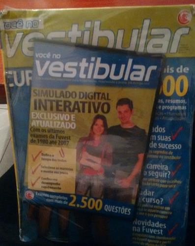 Revista Com Dvd Você No Vestibular Exames Com 2500 Questões