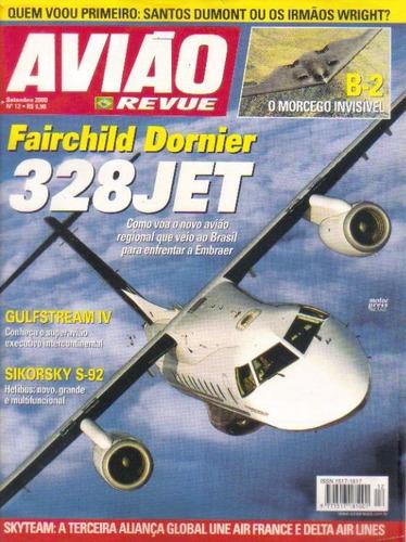 Avião Revue 12 Fairchild Dornier 328jet Poster Vought F4u-4 Original