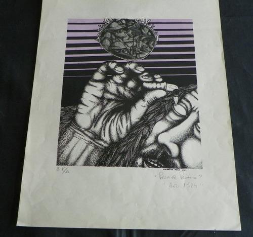 Gravura Serigrafia Henrique Badaró - Uruguay 29x39 Ag278 Original