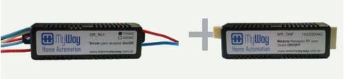Receptor Rf Saída Relé 220v Para Sistema Automação Myway