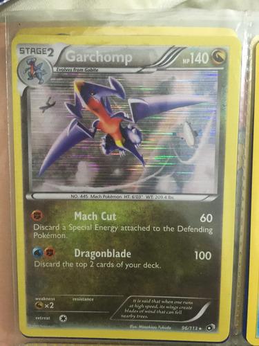 Garchomp Holo Pokemon Carta Tcg Legendary Treasures Rara
