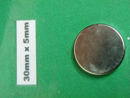 Imanes De Neodimio 30mm X 5mm - 20 Soles Unidad