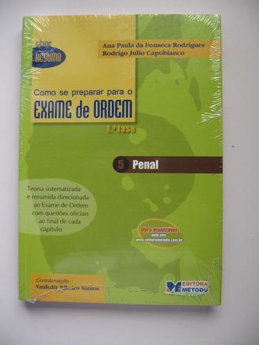 Penal - Como Se Preparar Para O Exame Da Ordem - Ed. Método