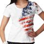 Camiseta Estados Unidos Side Paint Feminina
