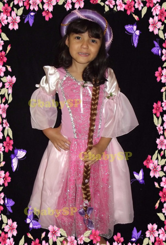 Vestido Da Rapunzel Fantasia De Princesa - Enrolados - Luxo Original
