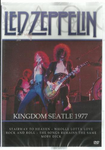 Dvd Led Zeppelin / Kingdom Seatle 1977 - Lacrado Fábrica Original