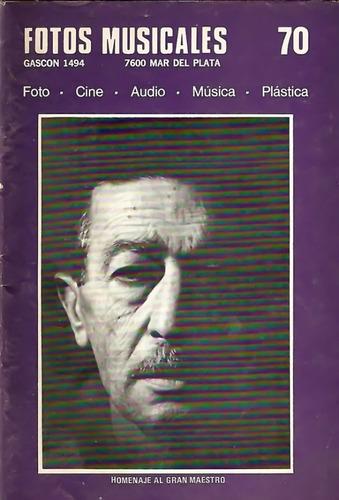 Fotos Musicales Nº 70 - Foto, Cine, Audio, Música, Plástica.