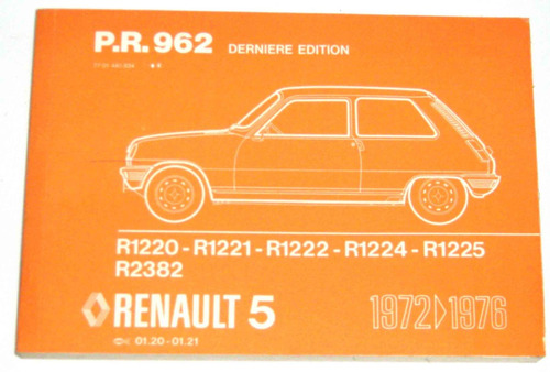 Renault 5  Despiece Original De Fábrica. Frances