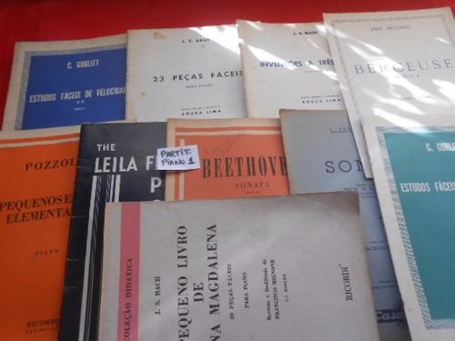 Partituras Para Piano Kit Com 11 Raridade Único no site Barato Original