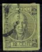 Selo México,miguel Hidalgo,12c 1868/72  Descrição. Original