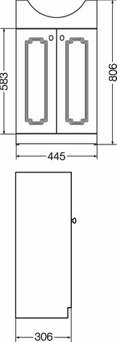 Mueble Ferrum Venecia 48cm 3 Agujeros Conjunto Lavatorio