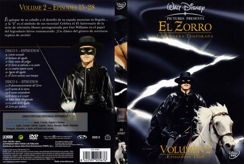 El Zorro (guy Williams) 2 Audios Ingles-latino
