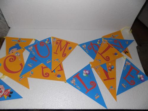 Banderines De 15x20 Con El Feliz Cumple De Plim Plim