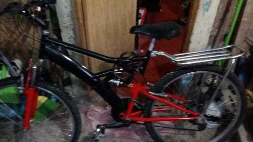 Bicicleta  Aro 29 De Ferro  Vermelha E Preto