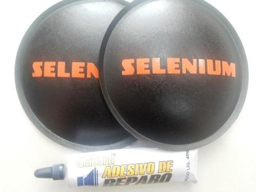 2 - Escudo Protetor Para Alto Falante Selenium 120mm + Cola Original