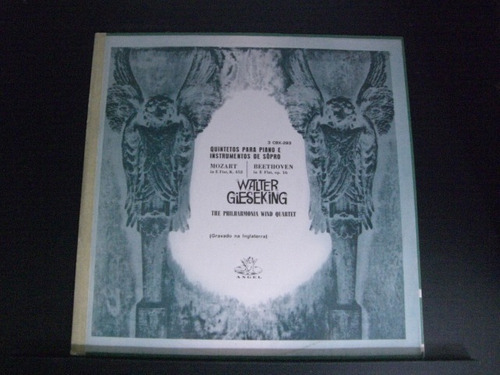Lp Mozart Beethoven - Quint. Piano - W. Gieseking Original