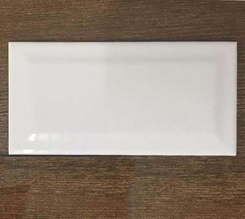 Azulejo Ceramico 7.5x15 Cm Blanco Biselado