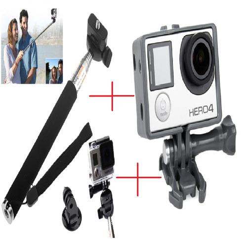 Go Pro Bastão Pau De Selfie Quadro Armação Moldura Frame Original