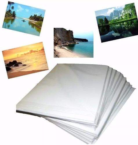 1000 Fls Papel Foto Glossy 120g/115g A4 Brilho Prova D'água