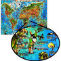 Mapa Mundi Ilustrado Monumentos Para Decorar Quarto Menino