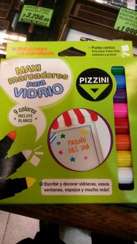 Marcadores Para Vidrio Juego Por 9 Unidades Surtidas Pizzini