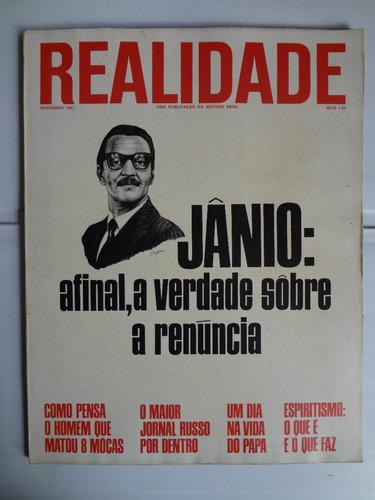 Revista Realidade N° 20 Novembro De 1967 Original