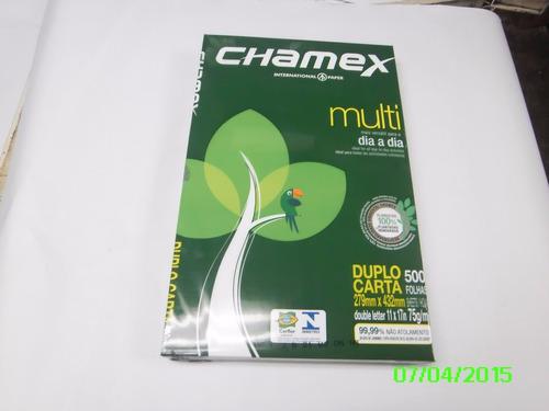 Papel Fotocopiadora Doble Carta 11 X 17 Chamex Resma D 500 H