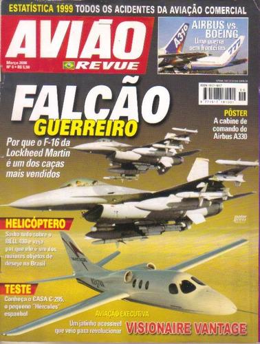 Avião Revue Nº 6 F-16 Lockheed Martin Poster Cab Airbus A330 Original