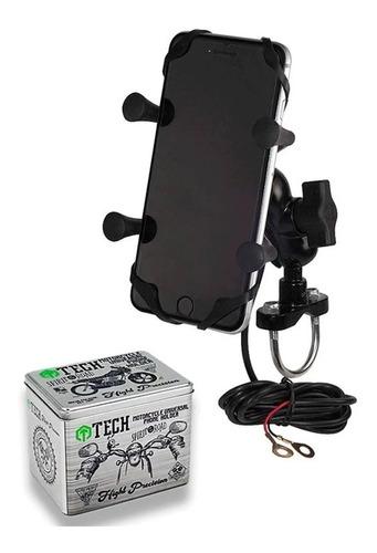 Soporte Celular Gps Manubrio Moto Universal Tipo Ram Qpg