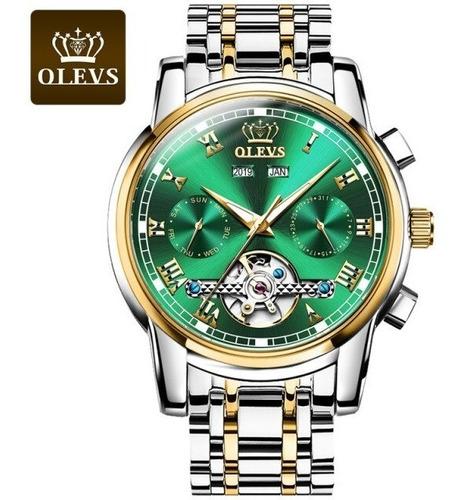 Relógio Olevs Masculino Em Aço Inoxidável