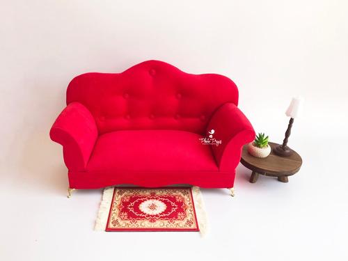 Mini Sofá Vitoriano Para Ensaio Fotográfico Newborn Props