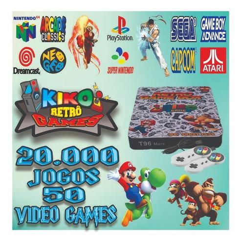 Vídeo Game Retrô Box - 20mil Jogos + 2 Controles S. Nintendo