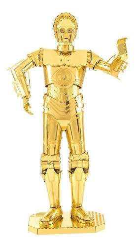 C3po Rompecabezas 3d Metalicos Star Wars Puzzle