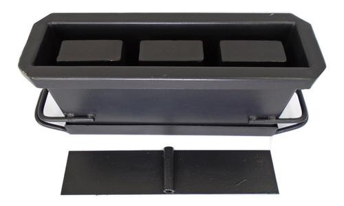 Forma Fazer Blocos 10 (09x19x39cms ) Com 3 Furos Jalossimaq